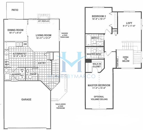 Nantucket model in the rockwell place subdivision in Nantucket floor plan