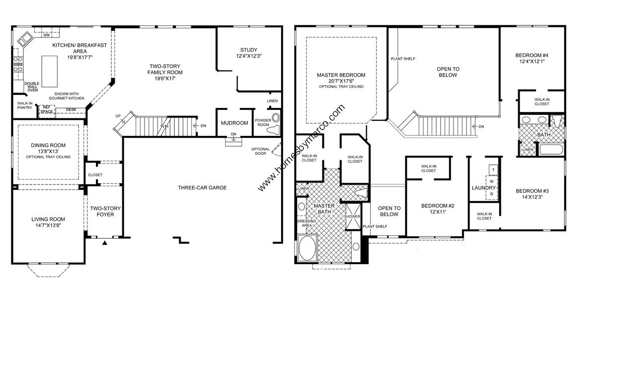Northwood model in the bowes creek country club for 1200 post oak floor plans