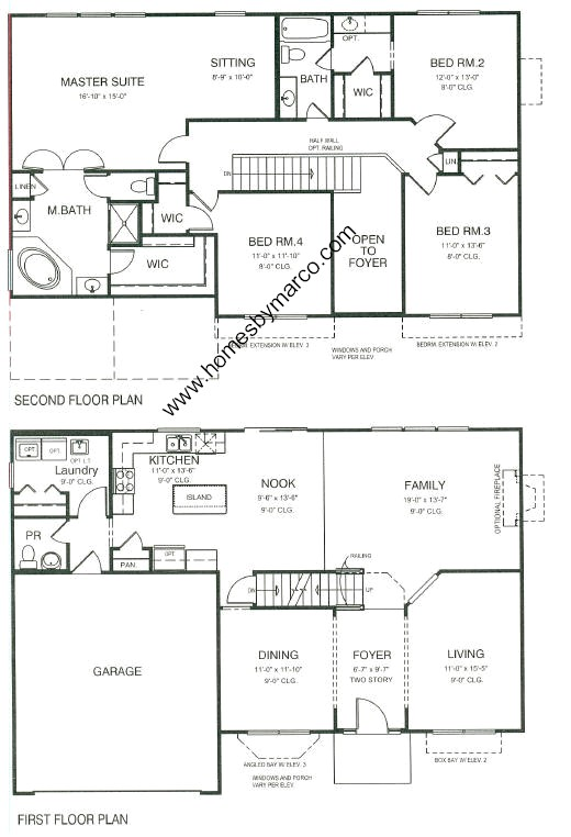 Oxford model in the kensington club subdivision in for Oxford floor plan