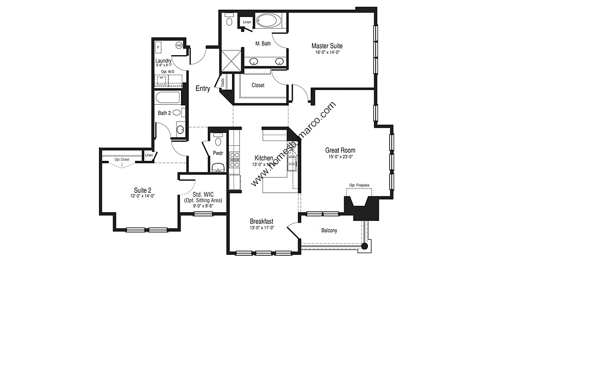 Oxford model in the hamptons of hinsdale subdivision in for Oxford floor plan