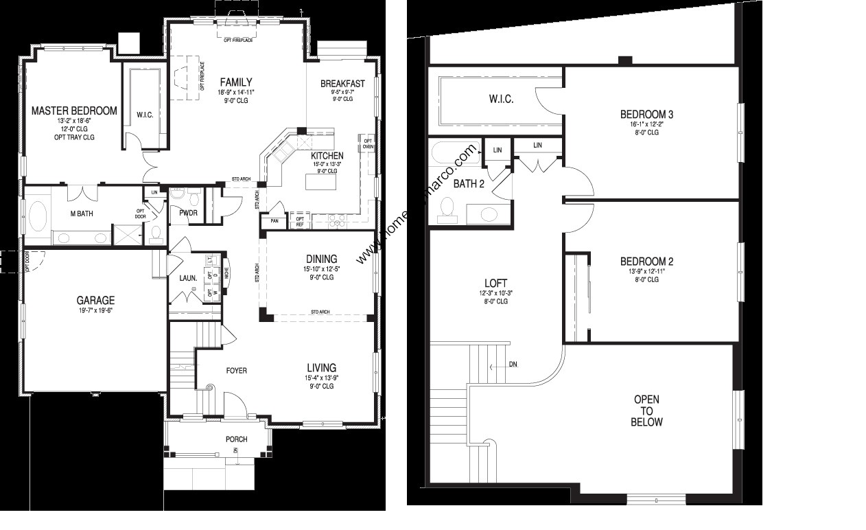 Oxford model in the waterbury place subdivision in buffalo for Oxford floor plan