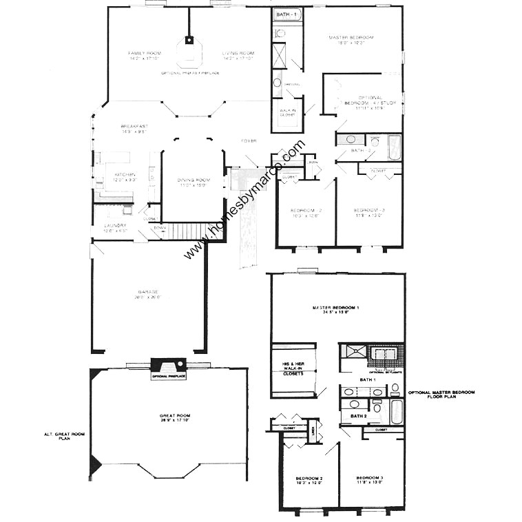 Oxford ii model in the carlyle subdivision in buffalo for Oxford floor plan