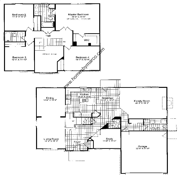 Penhurst model in the country place subdivision in Place builders floor plans
