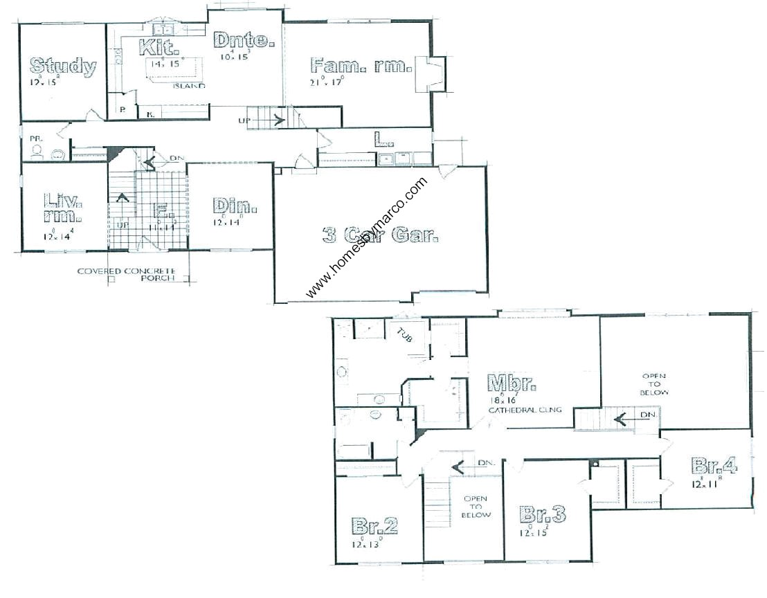Homes By Marco Floor Plans: Pennington Model In The Kings Gate Subdivision In Crystal
