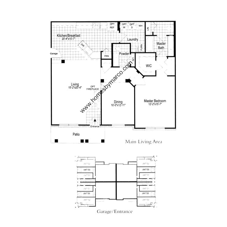 Plan 720 Model In The Concord Village Subdivision In Lake Zurich Illinois Homes By Marco