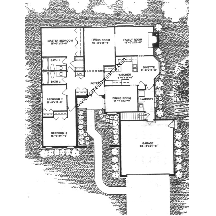 Plan 2000 model in the mill race creek subdivision in for Lucky 4 ranch floor plan