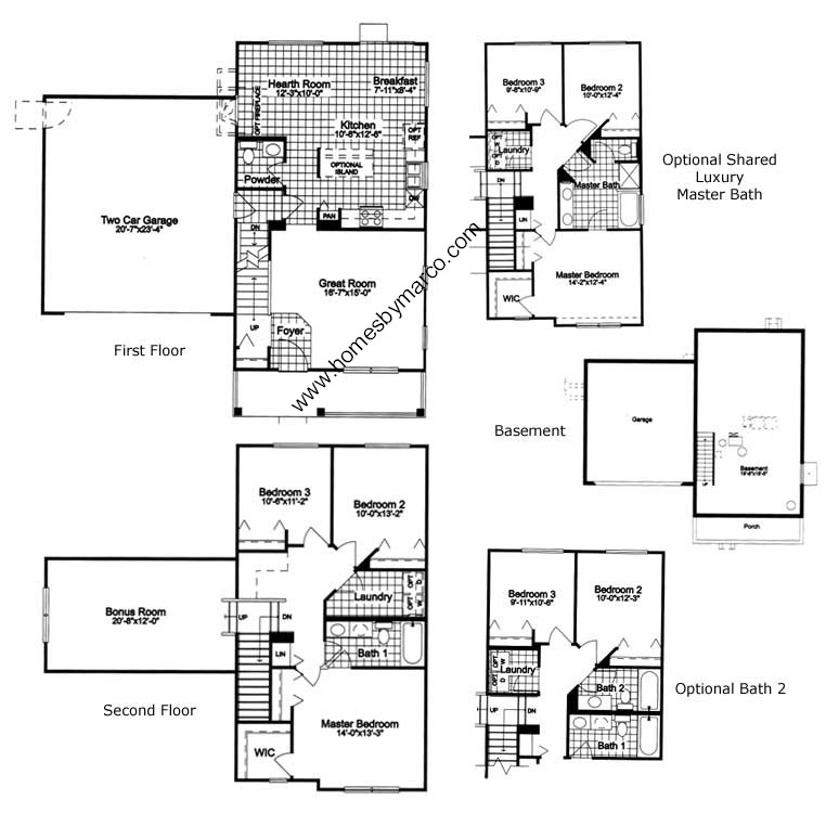 221 model in the madrona village subdivision in round lake for 221 armstrong floor plans