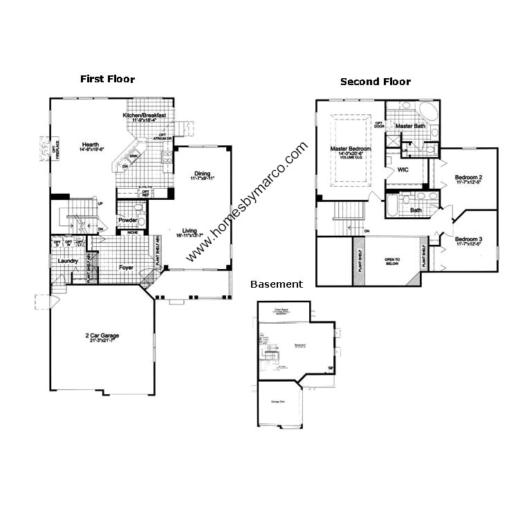 plan 501 model in the midlane country club subdivision in For501 Plan