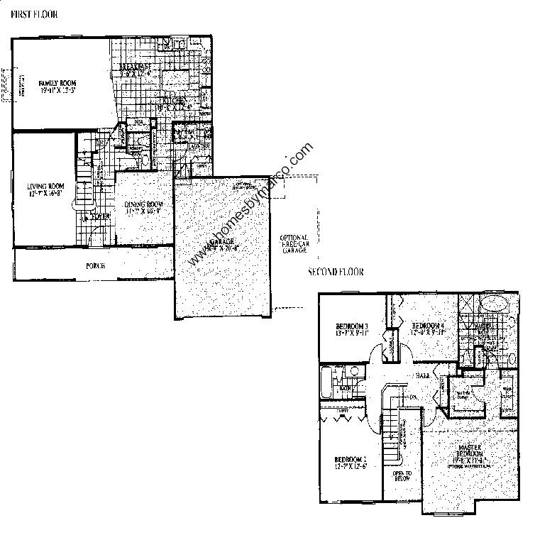 Poplar model in the forest cove subdivision in green oaks for Poplar forest floor plan