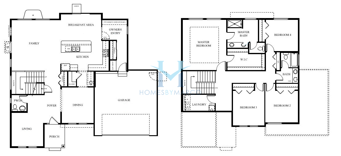 Homes By Marco Floor Plans: Potomac Model In The Providence Subdivision In Elgin