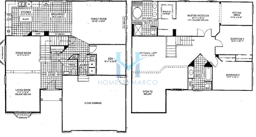 Homes By Marco Floor Plans: Prairie Stone Model In The Stonegate Village Subdivision