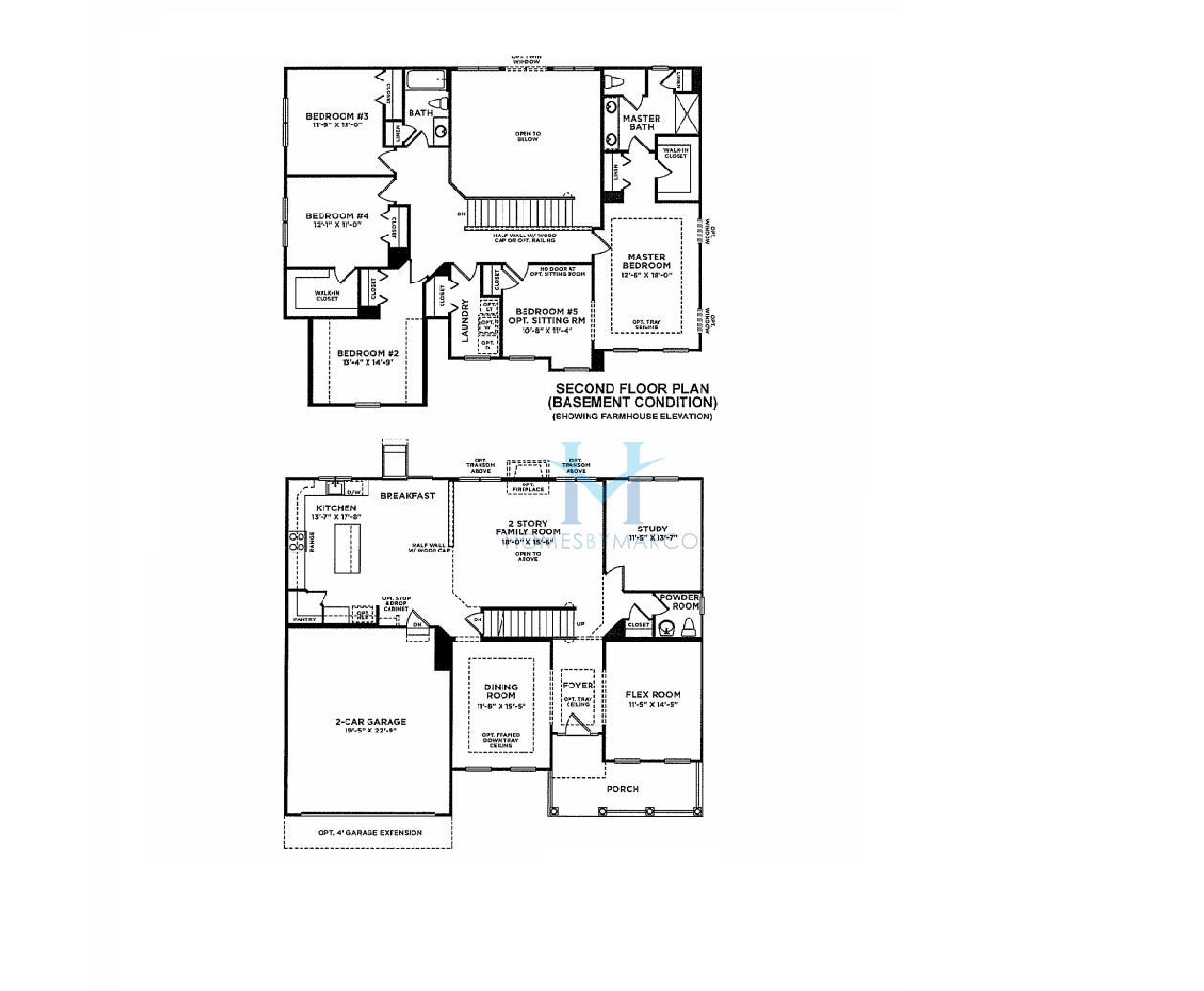 28 Preston 755 Floor Plan Large Two Story New Home
