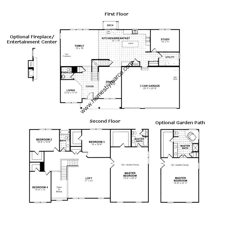 100 ryland townhomes floor plans row house plans for Ryland home floor plans