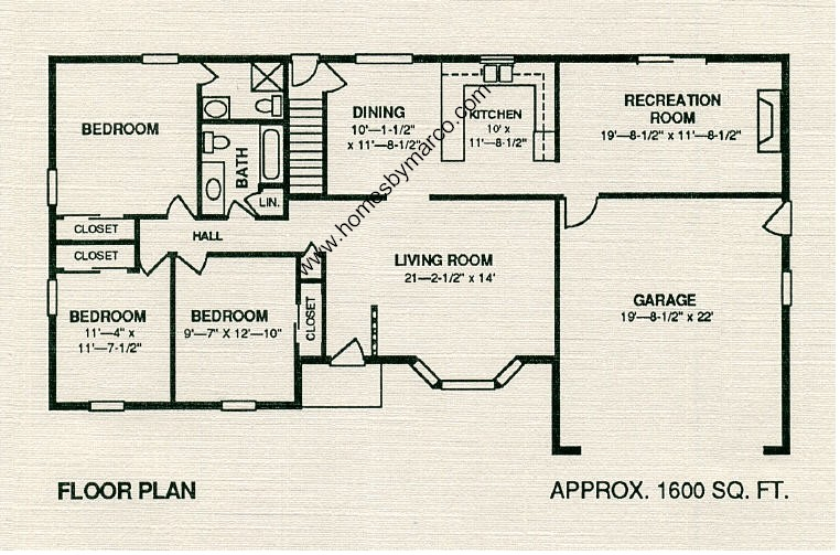 Ranchwood model in the indian oaks subdivision in for Lucky 4 ranch floor plan