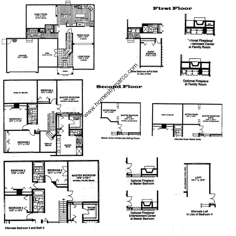 Regency model in the the pointe subdivision in vernon for Regency house plans