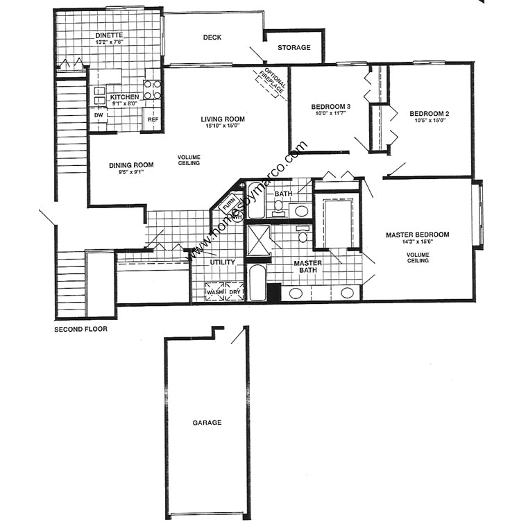 Regency model in the arlington trails subdivision in for Regency house plans