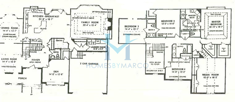 Regency model in the ashwood creek subdivision in for Regency house plans