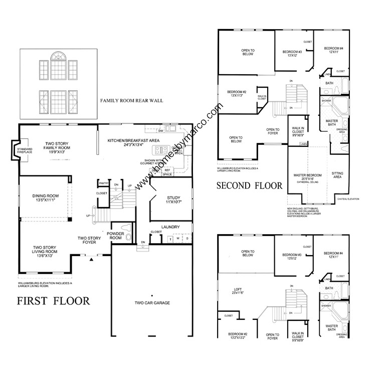 Richmond model in the hawthorn woods country club for Richmond floor plan