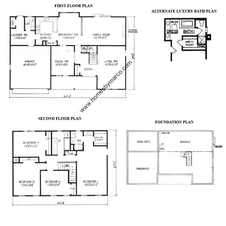 Richmond model in the windcrest subdivision in oswego for Richmond floor plan