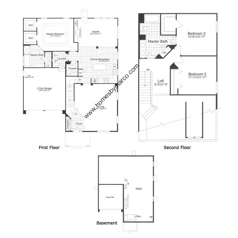 Richmond model in the midlane country club subdivision in for Richmond floor plan