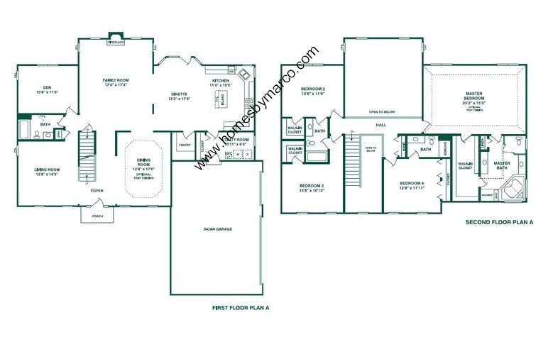 Richmond model in the tall oaks subdivision in elgin for Richmond floor plan