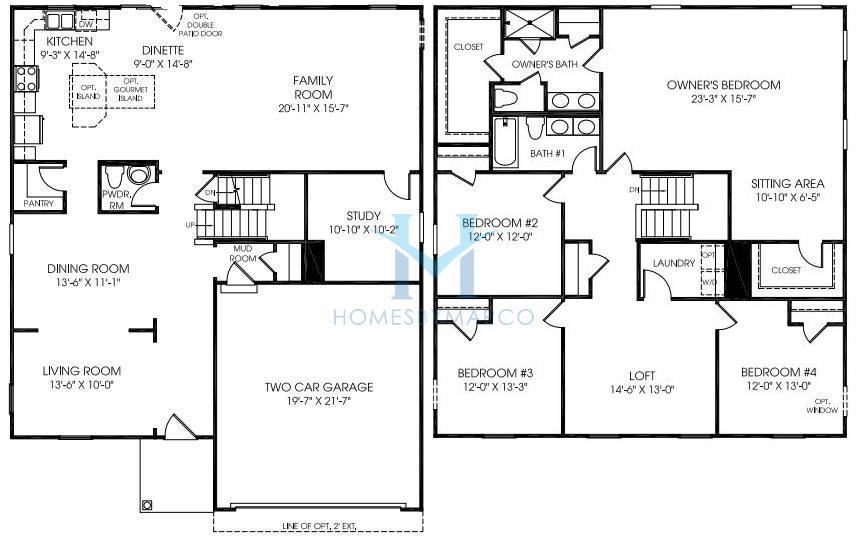 Homes By Marco Floor Plans: Rome Model In The Towne Center Subdivision In Shorewood