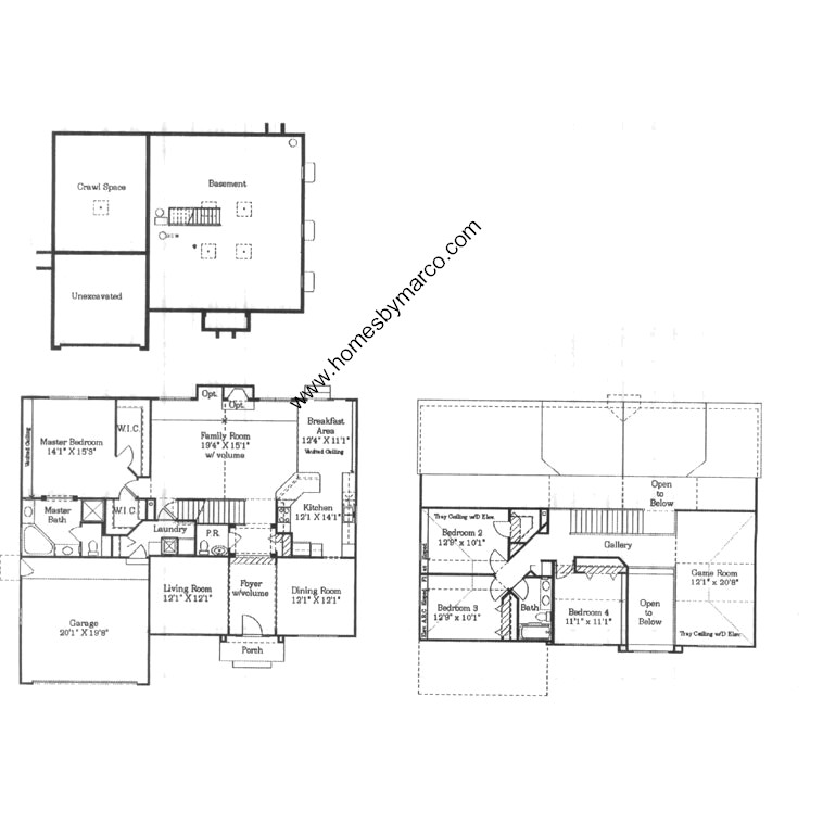 Rosewood model in the Century Farms subdivision in Naperville – Kimball Hill Homes Floor Plans