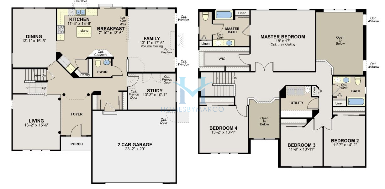 Rosewood model in the herrington estates subdivision in for Rosewood house plan