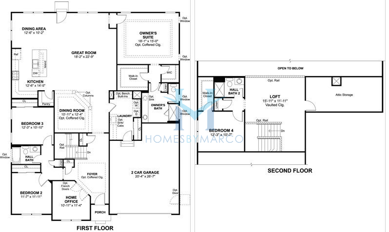 Homes By Marco Floor Plans: Rosewood Model In The Tanglewood Oaks Subdivision In