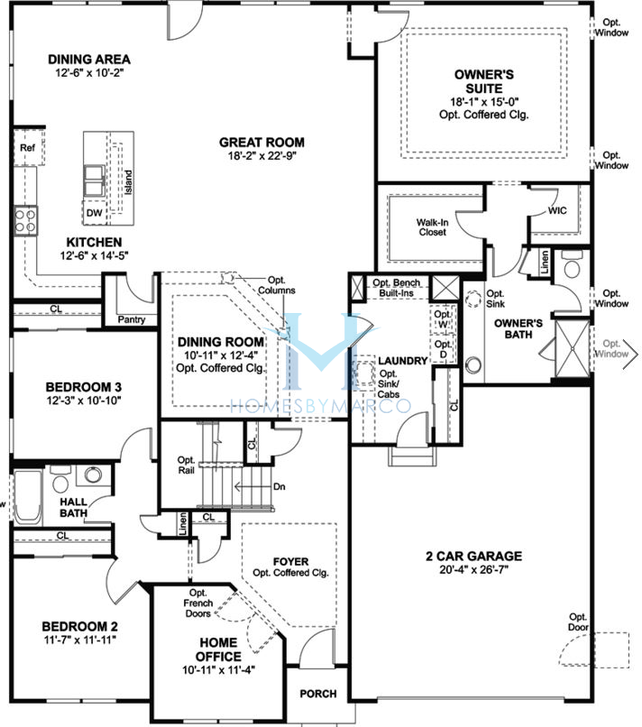 Rosewood model in the walnut glen subdivision in island for Rosewood house plan