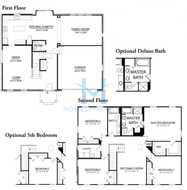 Sapphire premier model in the nantucket lakes subdivision for The lenox floor plan