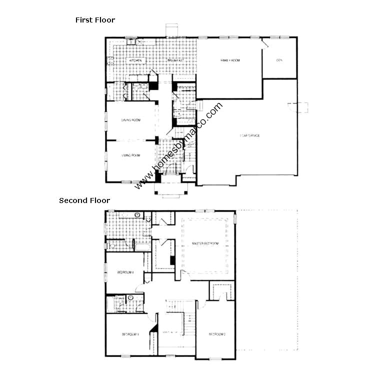Saratoga model in the prairie knoll subdivision in for Saratoga homes floor plans