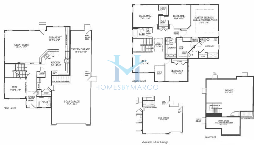 Saratoga model in the symphony meadows subdivision in volo for Saratoga homes floor plans