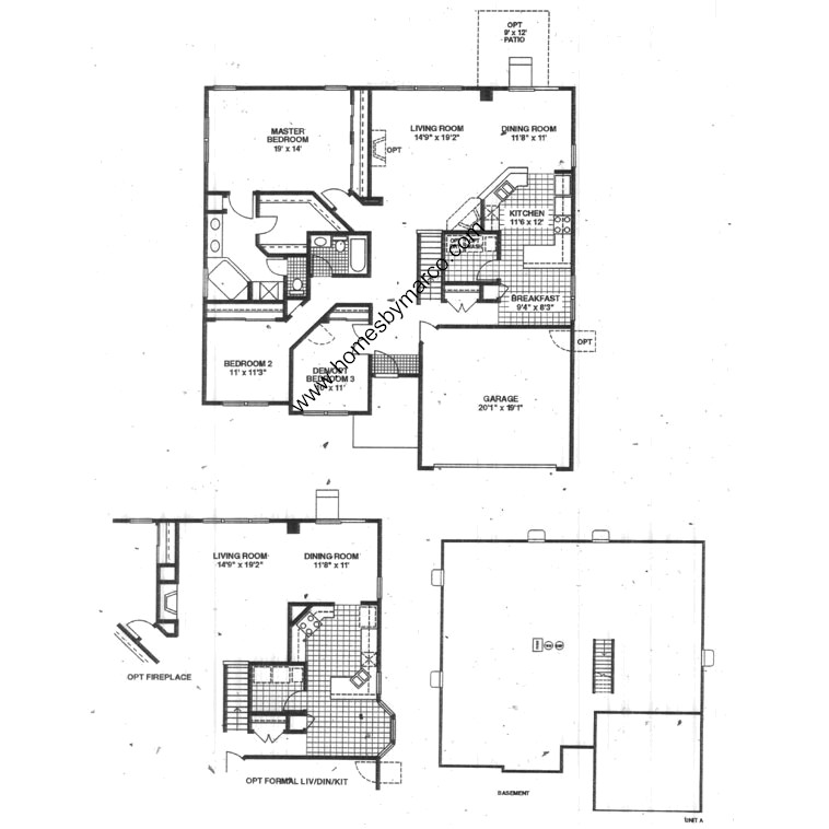 Saratoga model in the beckett crossing subdivision in for Saratoga homes floor plans