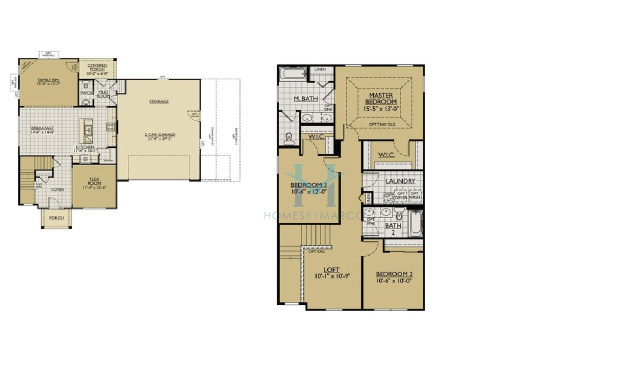 Sequoia model in the kipling estates subdivision in for Subdivision house plans