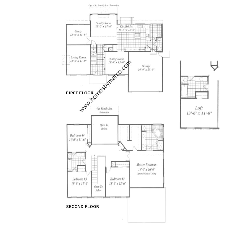 Ryland Homes Geneva Floor Plan House Design Plans