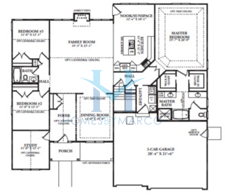 Southfork model in the blackberry creek subdivision in for Southfork house plan