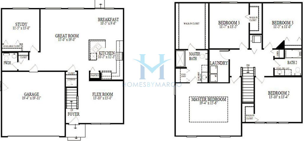 Homes By Marco Floor Plans: Southwind Model In The Sable Ridge Subdivision In Joliet