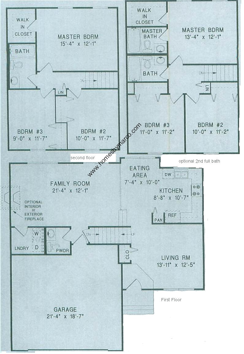 Split level model in the heatherwood subdivision in lake for Split entry floor plans