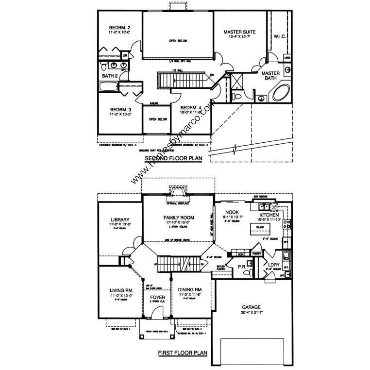 Sterling model in the century trace subdivision in for Sterling plan