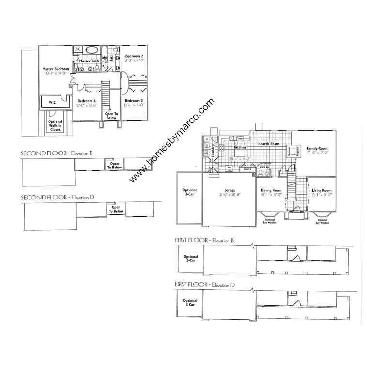 Sterling model in the the vintage subdivision in spring for Sterling plan
