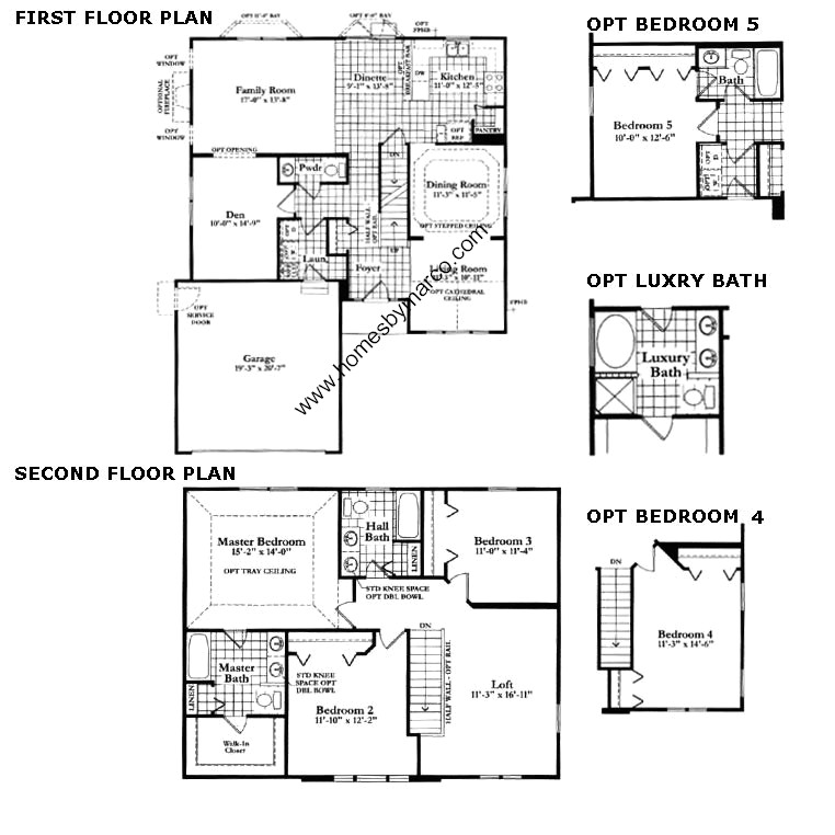 Neumann homes floor plans for Subdivision house plans