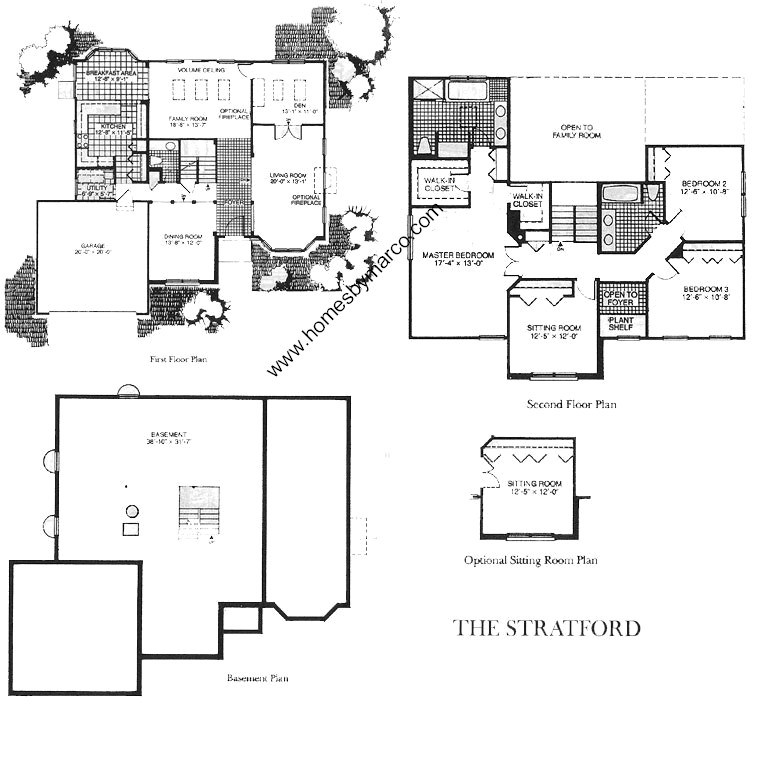 Stratford model in the astor place subdivision in buffalo Place builders floor plans