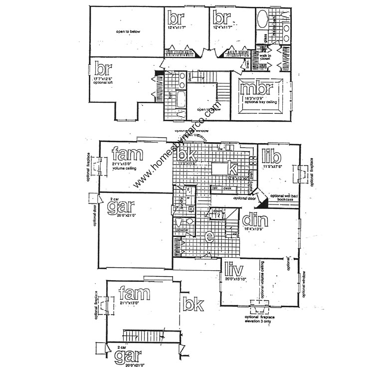 Stratford model in the canterbury fields subdivision in for Stratford homes floor plans