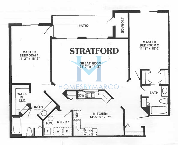 Stratford model in the pheasant trail subdivision in for Stratford homes floor plans
