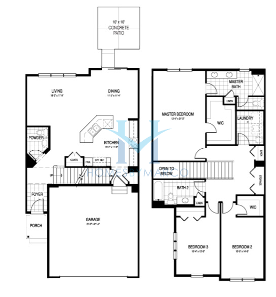 Summit model in the lexington heritage subdivision in for Summit homes floor plans