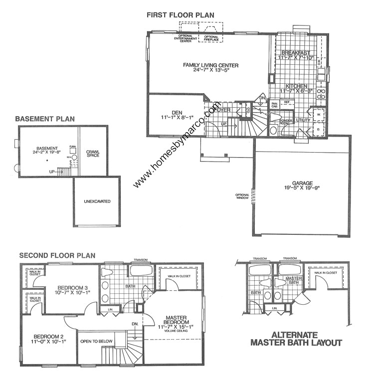 Sunflower model in the Bright Meadows subdivision in Round Lake – Bright Homes Floor Plans