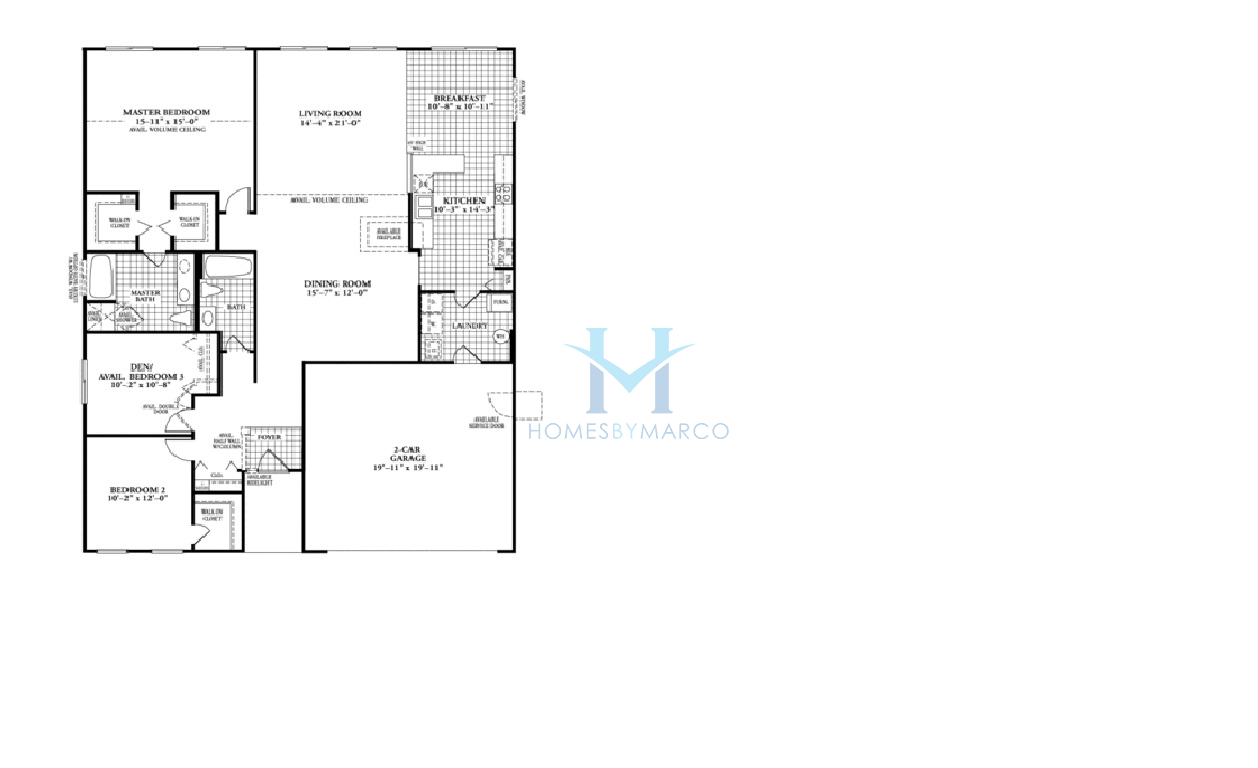 Homes By Marco Floor Plans: Sunrise Model In The Cambridge At Heatherstone Subdivision