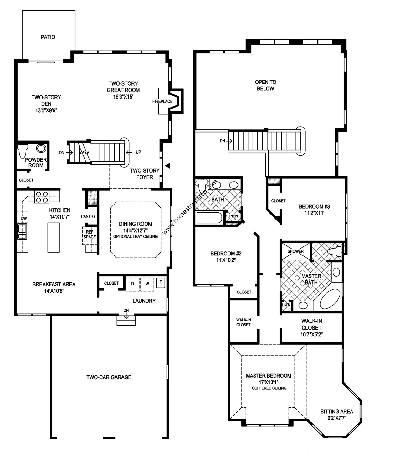 Thornwood model in the Hawthorn Woods Country Club subdivision in ...