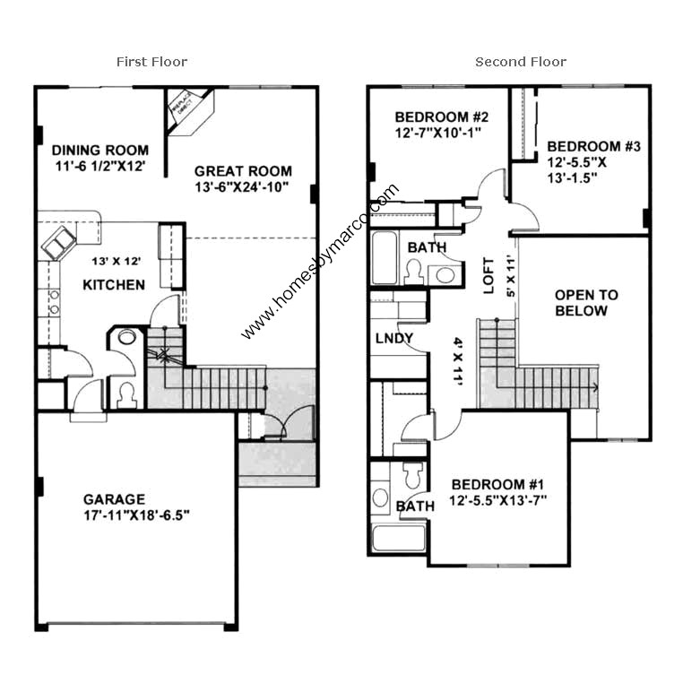 Unit d model in the logan square subdivision in belvidere for Ron lee homes floor plans